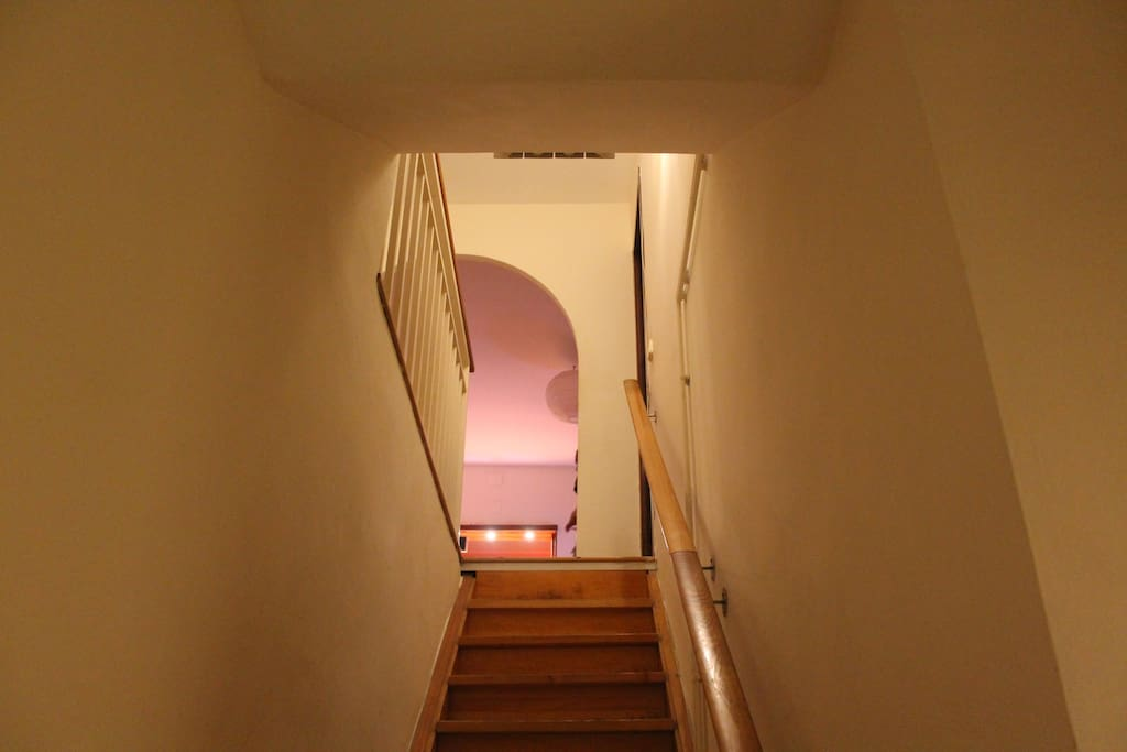 You'll have great privacy. Your room is downstairs,