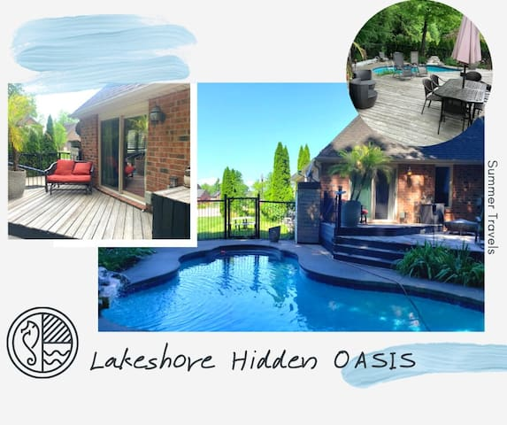 Lakeshore Hidden Oasis (pool & private jacuzzi)