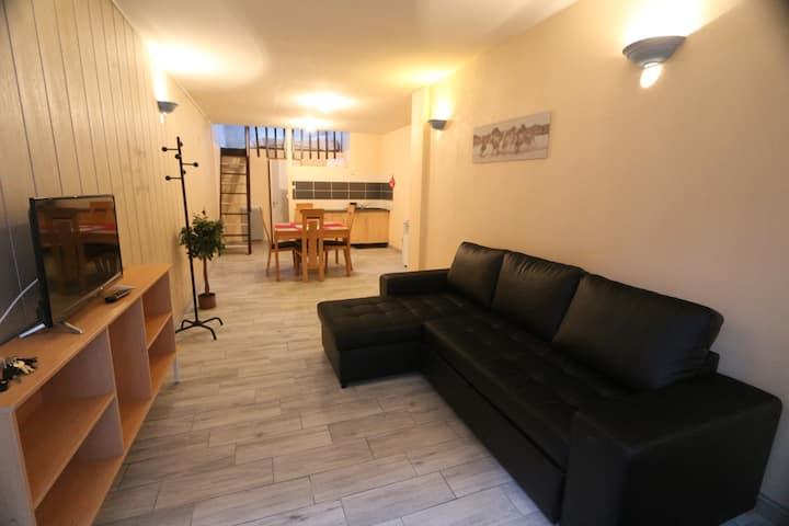 Cholet centre Studio+mezzanine 4 p. parking privé