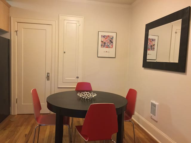 Separate dining area.