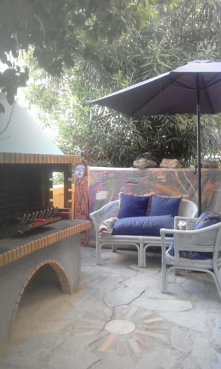 Apartament with garden,barbeque, 1km from see 30eu