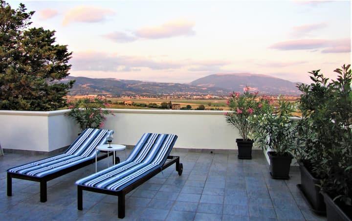 Zimmer zu vermieten, magische Ansicht von Assisi