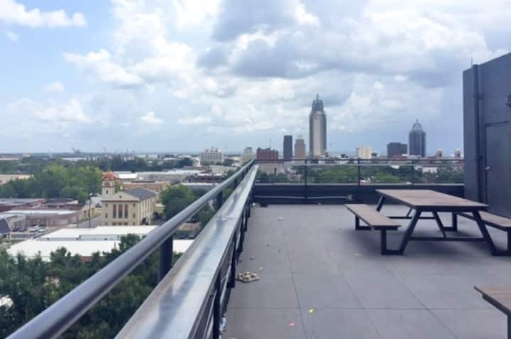 Enjoy Park View from *Downtown* Loft, Rooftop, Gym