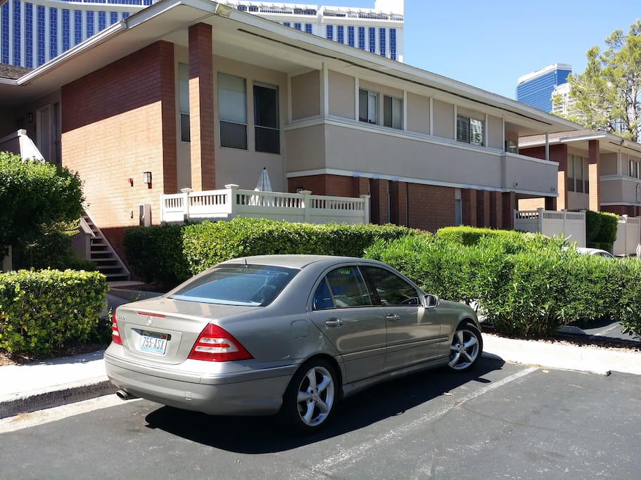 Private parking in front of unit
