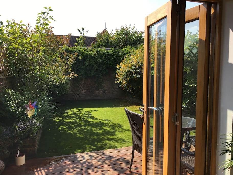 Back garden - tri-folding open doors