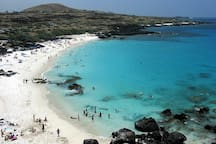 Kua Bay - A popular guests and locals beach