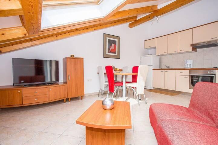 Apartments Macolić (2-bedroom roof apartment 3A) - Palit - Apartment
