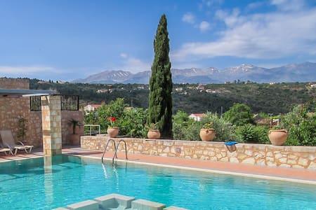 Athina - Luxury Stone Built Villa - Private Pool - Gavalochori - Villa - 2