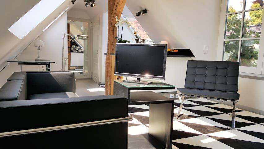 Zentral gelegenes Design-Studio mit Dachterrasse