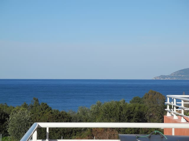 villa 150 m² 2 flats garden pool sea view nature