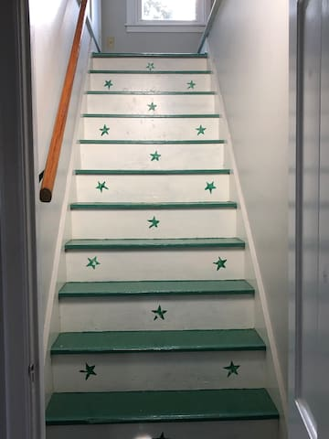 Stairs to bedroom #3