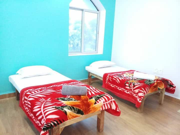 YOGA MEDITATE SLEEP 5 in tranquil Bodhgaya village