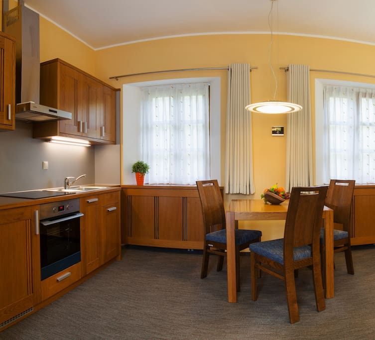 """Review from our guest: """"Very cozy apartment with calm and home atmosphere, clean room, good cuisine, professional staff. Perfect place to stay"""""""