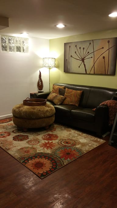 Living space in basement area