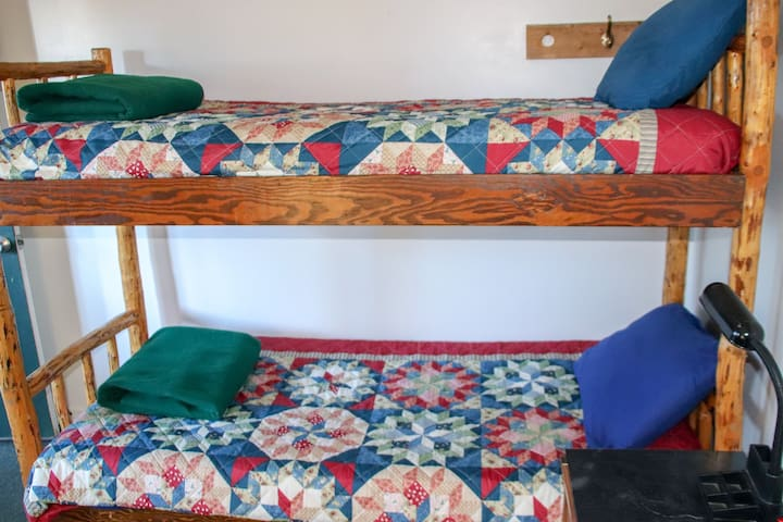 the two twin beds