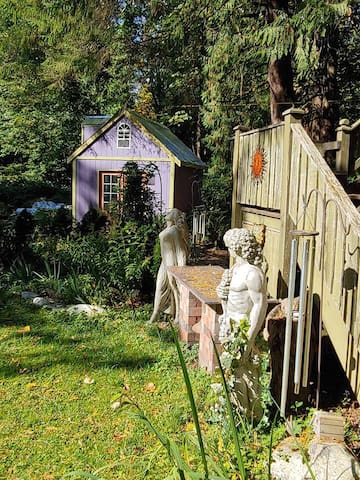 Back Yard Garden Circle Altar and Statues