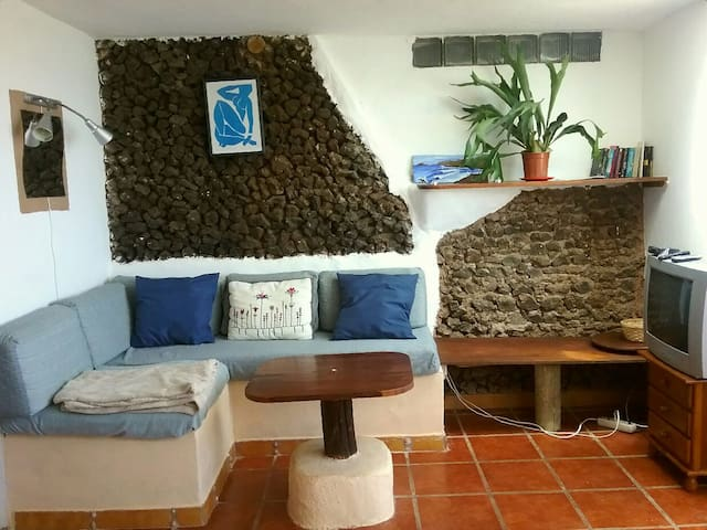Rustic apartment with sea views - Caleta de Caballo - Apartament