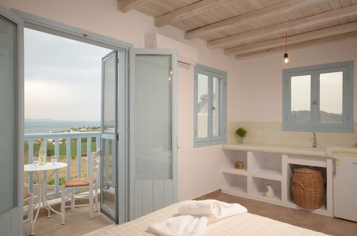 Depis bay 2 bedroom villa sea view Plaka Naxos