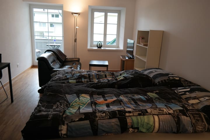 modern cozy room in 19th century house - Brugg - Appartement