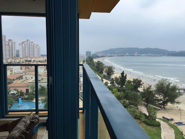 万科双月湾一线海景两房一厅两卫度假公寓 - Huizhou Shi - Flat
