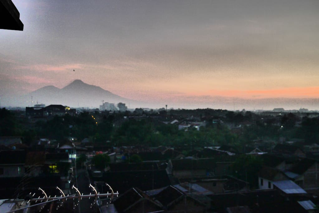 Get your cameras out as Mount Merapi is just outside of the balcony!