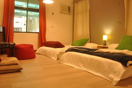 Jazz~2 mins walk MRT Sta./ 2 Double Beds Cls HSR - 左營區 - Byt