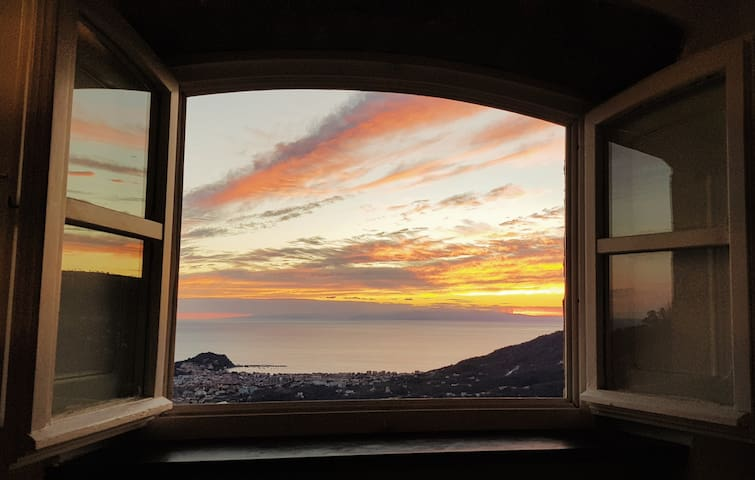 """Sunset time from """"Dreams Home"""" Windows"""