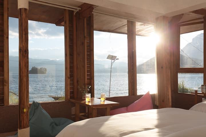 超级湖景双床&大床#看雪山落日#看潮起潮落