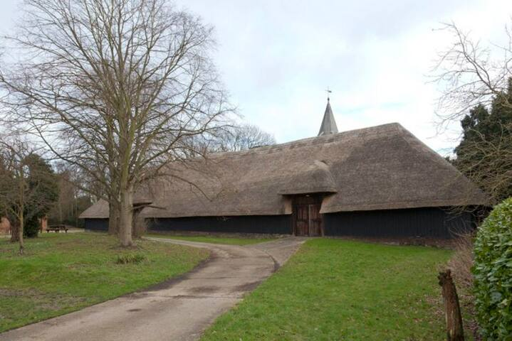 Littlebourne Barn, next to the church. Built around 1340.