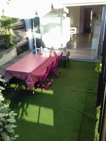 Studio vacances de 25m² en rdc + 15m² de terrasse