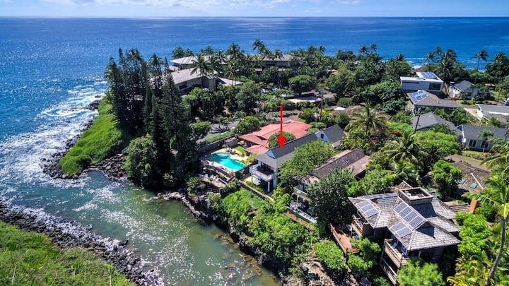 Hale Honu - Newly Built Oceanfront Home with A/C!
