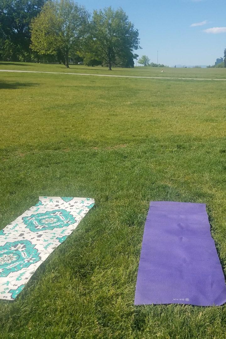 Yoga mat provided