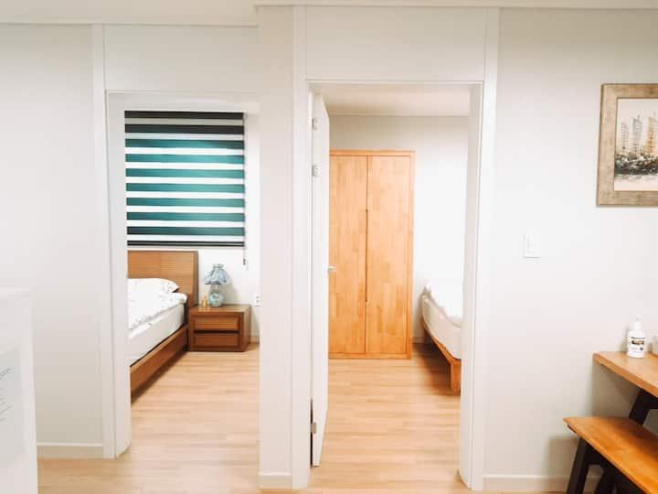 집전체🌟투룸(two rooms)🌟장기투숙및자가격리 (self-quarantine 2)