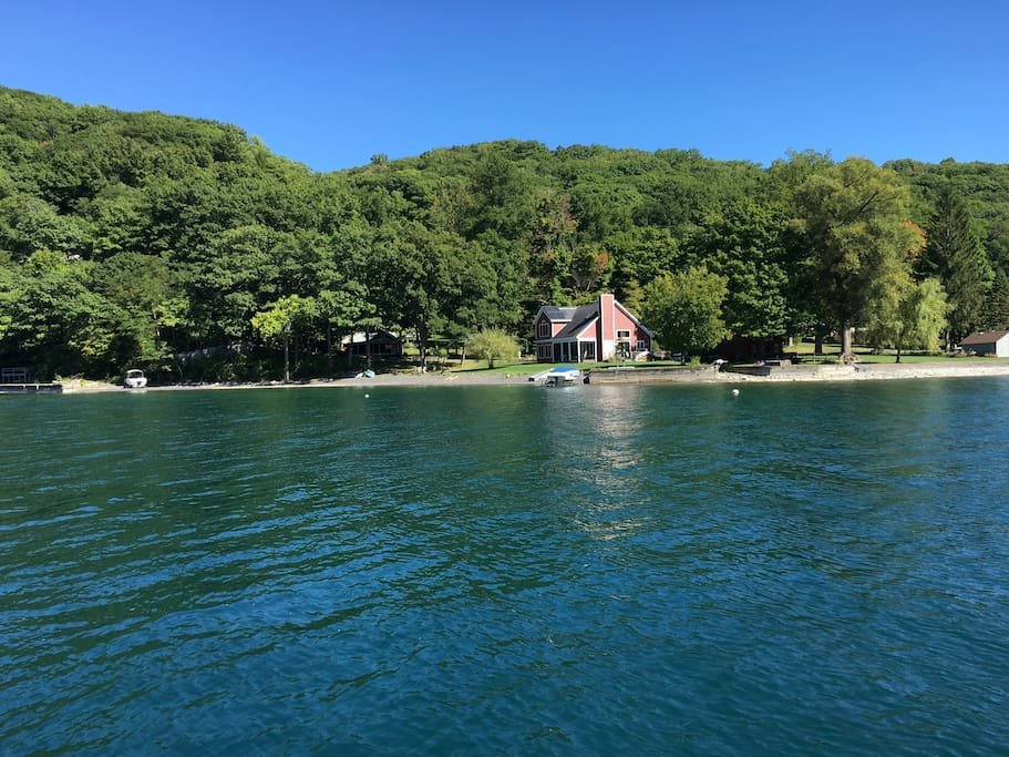 Beach from lake (with main house)