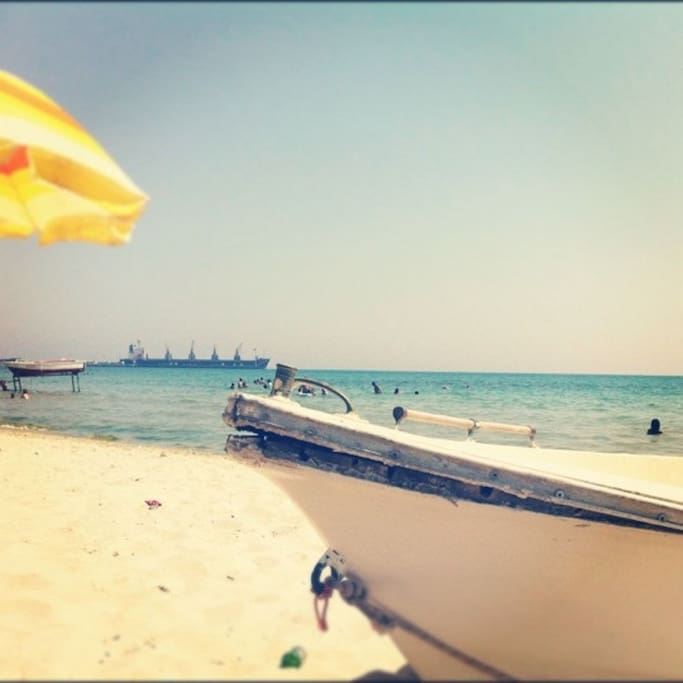 Dallas plaji yuruyerek sadece 5 dakika mesafede