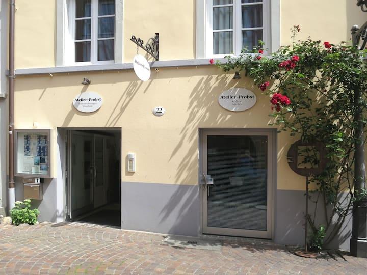 Atelier Probst- Salmannsweilergasse 22, (Konstanz), Ferienwohnung K0, 40qm, 1 Schlafraum, max. 2 Personen