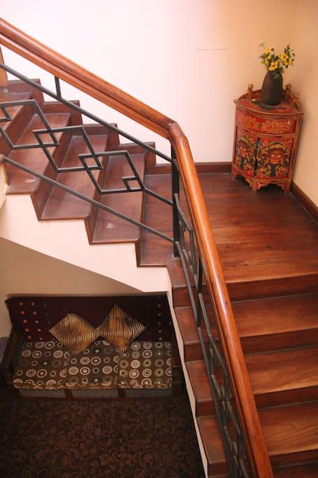 The beautiful stairways.