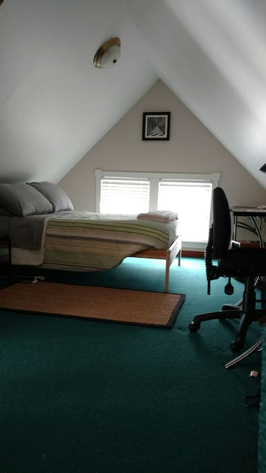 View from the closet to the sleeping area.
