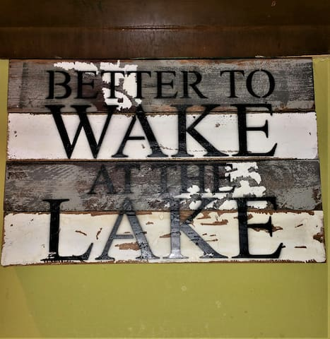 It is better to wake at the lake! Do join us we would love to have you stay!