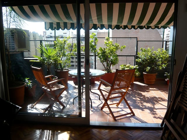 Family Flat with Big Terrace in best of Palermo