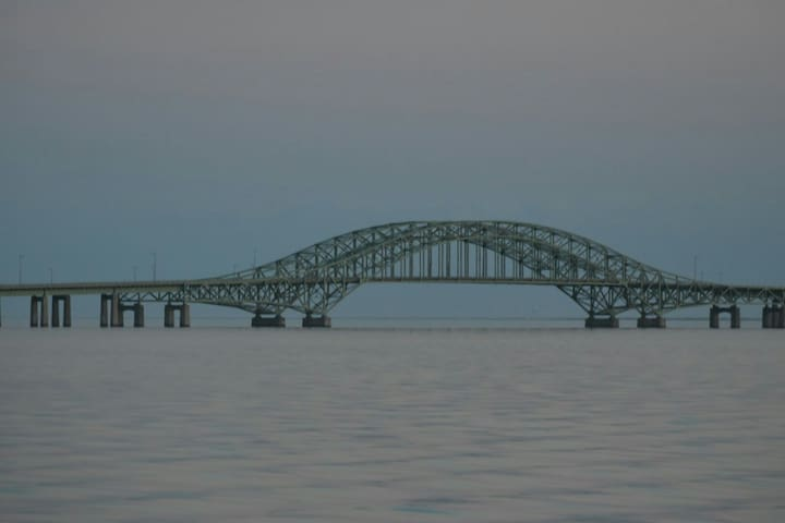 Robert Moses Bridge to ocean beaches.