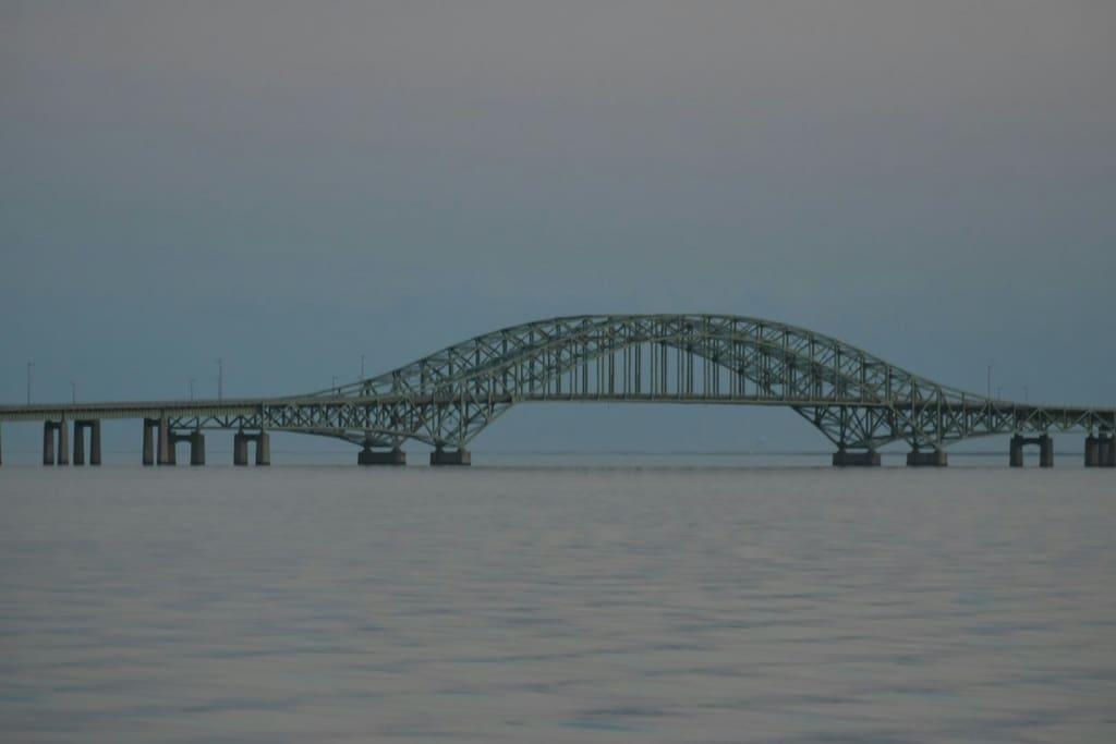 Robert Moses Bridge to ocean beaches.