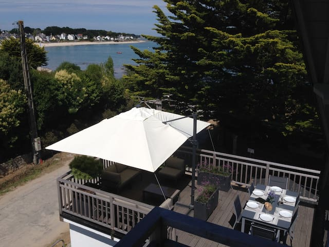 Grand duplex 120m2 + terrasse en bord de mer - Saint-Pierre-Quiberon - Apartment
