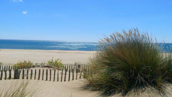 Maison T3 marseillan plage 100m plage robinson