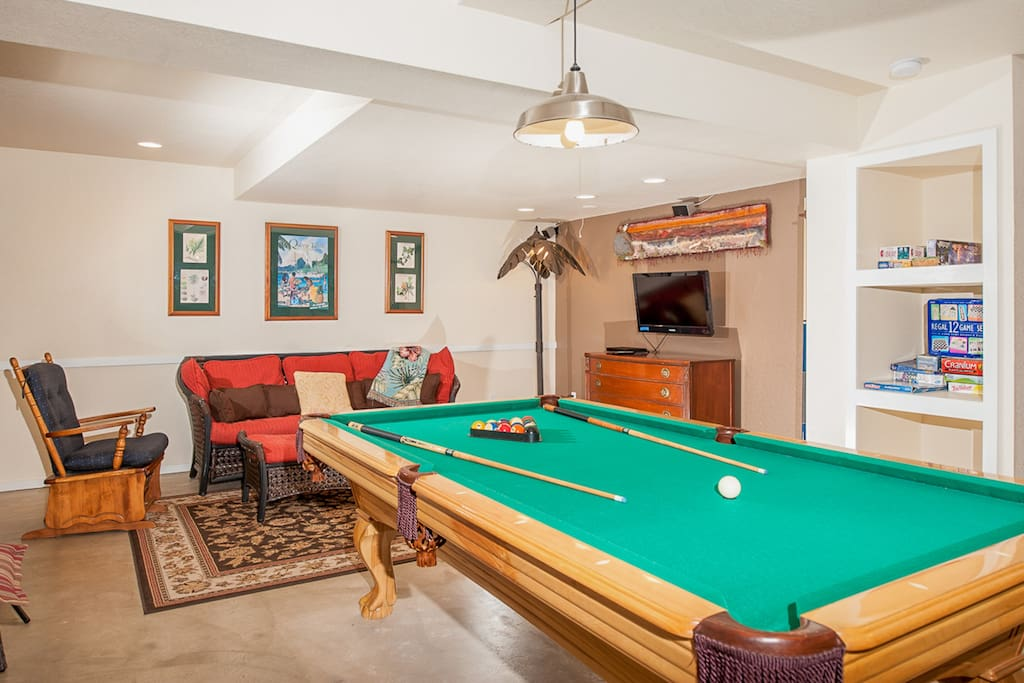 Enjoy a game of pool or one of several board games.