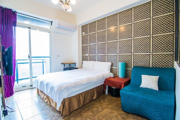 2018new apartment in city澎湖民宿/即時預訂/雙人房不分館 ·