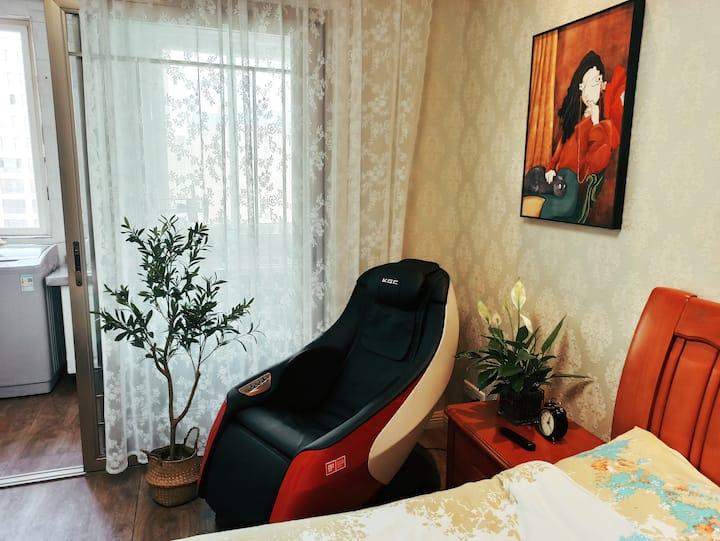 【纯享民宿2】万达广场高铁站市中心浪漫舒适一居室