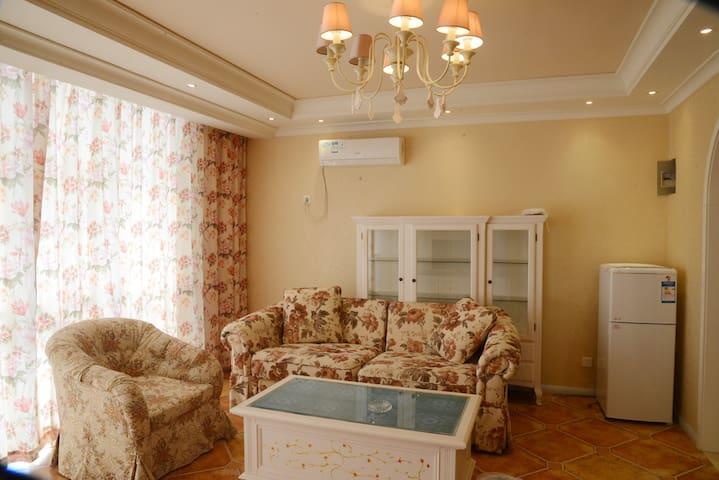 黄金海岸全海景高层两室度假公寓出门口就是私属海滩 - Qinhuangdao - Lägenhet