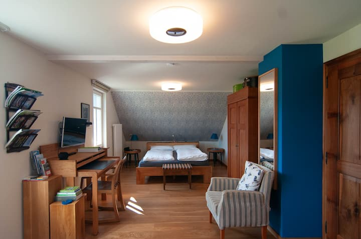 Haus zum Nussbaum, (Lindau am Bodensee), Studio mit WC und Dusche