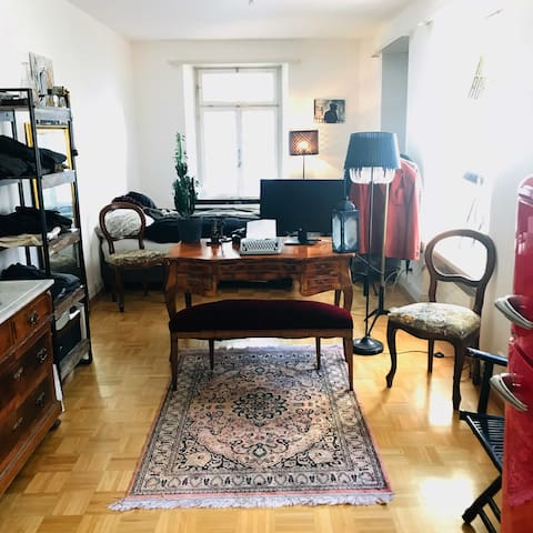 Artist's one-bedroom flat